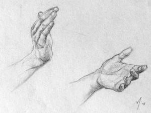 Artistic clapping hands